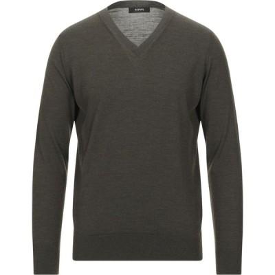 アルファス テューディオ ALPHA STUDIO メンズ ニット・セーター トップス sweater Dark green