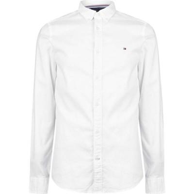 トミー ヒルフィガー Tommy Hilfiger メンズ シャツ スリム ワイシャツ トップス Slim Fit Oxford Shirt White