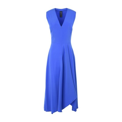 ZERO + MARIA CORNEJO 7分丈ワンピース・ドレス ブライトブルー 6 シルク 95% / ポリウレタン 5% 7分丈ワンピース・ド