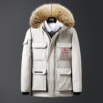 ダウンジャケット メンズ 30代 40代 ダウンコート ファー フード付き 中綿 アウター おしゃれ ジャケット ビジネス 冬物 防寒防風