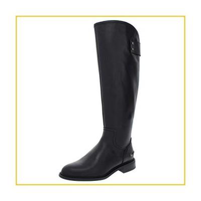Franco Sarto Women's Shoes Henrietta Leather Almond Toe Knee, Black, Size 6.5