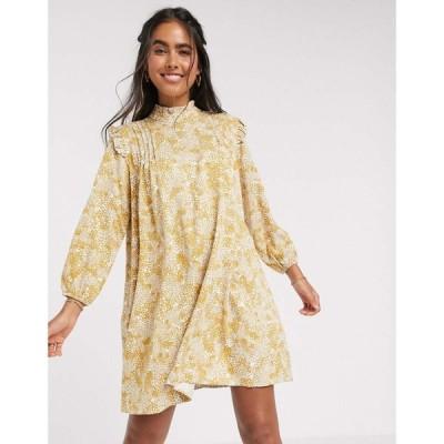 ワイ エー エス Y.A.S レディース ワンピース ワンピース・ドレス frill detail mini dress in abstract floral print マルチカラー