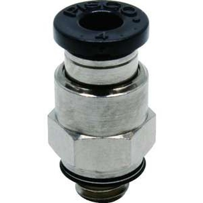 ピスコ チューブフィッティング ストレート 適合外径4mm 接続口径M6×1 (品番:PC4-M6)『4426843』