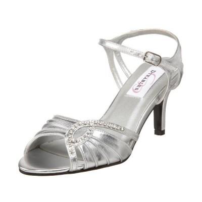 Dyeables レディース Ariana Ankle-ストラップ Sandal,シルバー メタリック,6.5 W US(海外取寄せ品)