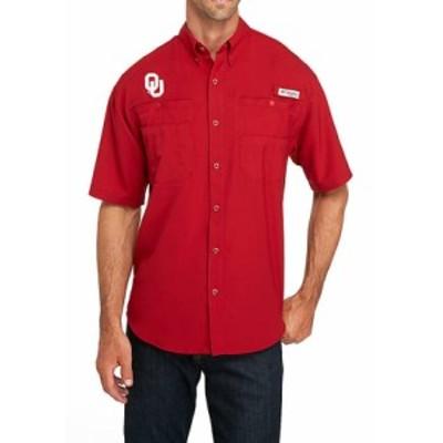 コロンビア メンズ シャツ トップス NCAA Collegiate Tamiami Short Sleeve Shirt OK - Red Velvet