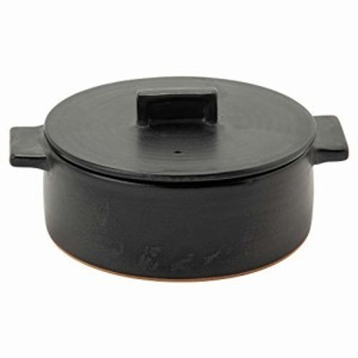 Rikizo 土鍋 ドゥマン 1-2人用 ブラック 直径22.5×奥行18×高さ10.5cm 1.15l 日本製 R-883204
