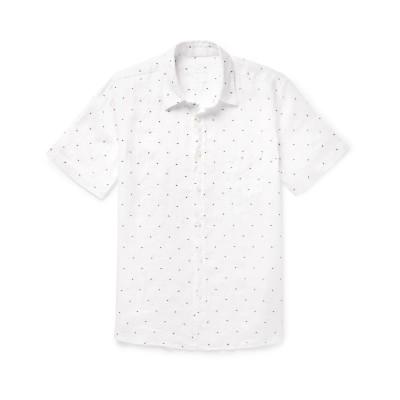 120% シャツ ホワイト M リネン 100% シャツ
