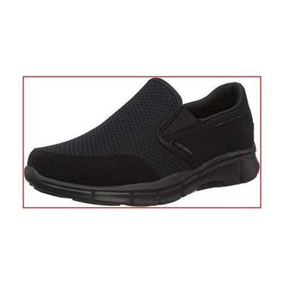 Skechers Men's Equalizer Persistent Slip-On Sneaker, Black, 9.5 M US【並行輸入品】