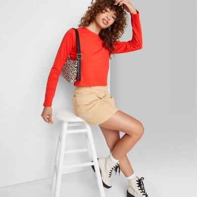 ワイルドファブル Wild Fable レディース 長袖Tシャツ トップス Long Sleeve T-Shirt - Red