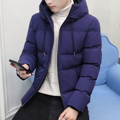 お兄系 メンズコート ダウンコート フード付き ダウンジャケット 韓国風 防寒 中綿コート アウター 通学 暖かい フォーマル 通勤 OL オフィス ショートコート