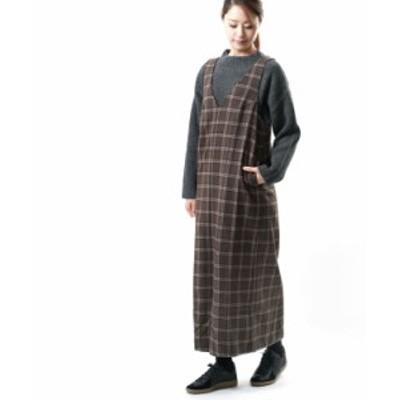 グラミチ ワンピース ジャンパースカート WOOL BLEND ONEPIECE GRAMICCI GLJK-20F040 国内正規品 2020秋冬新作 送料無料
