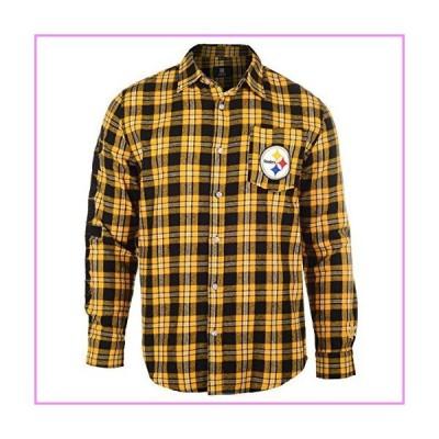 【送料無料】Pittsburgh Steelers Wordmark Basic Flannel Shirt Medium【並行輸入品】
