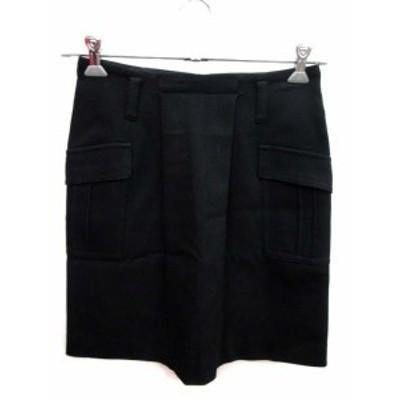 【中古】ロートレアモン LAUTREAMONT スカート 台形 ミニ 36 黒 ブラック /YI レディース