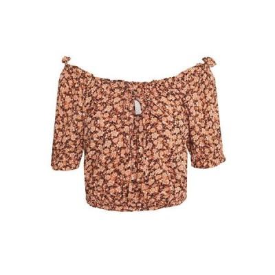 ピーシーズ シャツ レディース トップス PCMAGGIE CROPPED - Blouse - copper brown