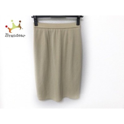 ギャラリービスコンティ スカート サイズ2 M レディース 美品 アイボリー ニット       スペシャル特価 20200923