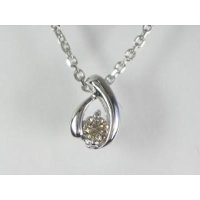 K10WG ホワイトゴールド ダイヤモンド ペンダント ネックレス