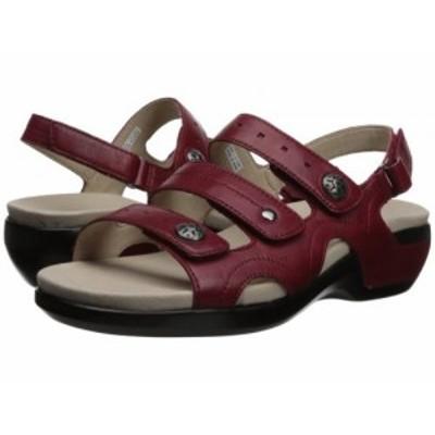 Aravon アラヴォン レディース 女性用 シューズ 靴 サンダル PC Three Strap Rio Red Leather【送料無料】