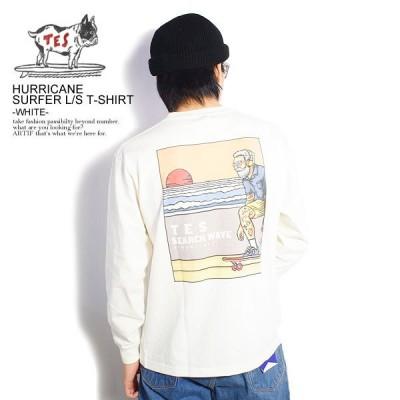 エンドレスサマー TES 長袖 Tシャツ テス ロンT The Endless Summer HURRICANE SURFER LS ホワイト fh1374325