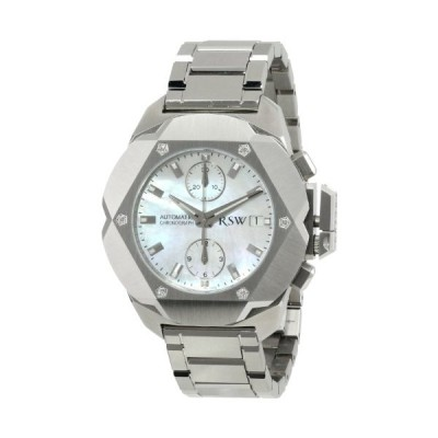 RSW Men's 4400.MS.S0.21.D0 Nazca Stainless-Steel Mother-of-Pearl Diamond Automatic Chronograph Watch 並行輸入品