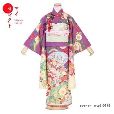 七五三 着物 7歳 レンタル 女の子 乙葉  ブランド レンタル衣装 オリジナルショール無料レンタル 753 msg7-0179