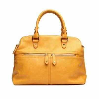 ファッションラボ ハンドバッグ satchel w/zippers Mustard