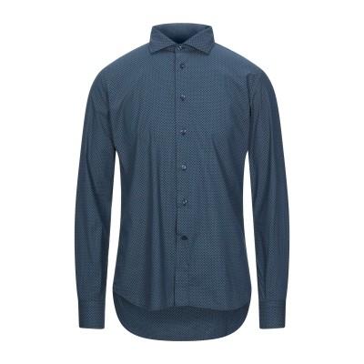 BARKING SHIRTS シャツ ダークブルー 40 コットン 97% / ポリウレタン 3% シャツ