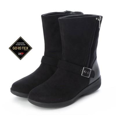 定価20,900円 madras Walk MWL2108 マドラスウォーク ゴアテックス GORE-TEX レディース レインブーツ 幅広 サイドジッパー付 透湿防水 婦人 靴 ブラック