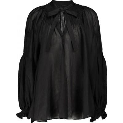 リーマシューズ Lee Mathews レディース ブラウス・シャツ トップス Soma ramie blouse Black
