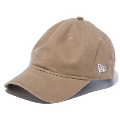 ニューエラ キャップ 帽子 NEW ERA 9TWENTY クロスストラップ ウォッシュドコットン カーキ