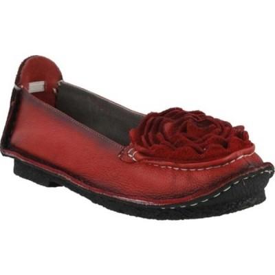 スプリングステップ スニーカー シューズ レディース Dezi Slip-On (Women's) Red Leather