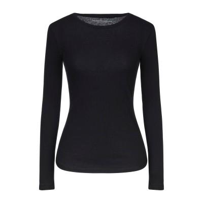 マジェスティック MAJESTIC FILATURES T シャツ ブラック 1 コットン 85% / カシミヤ 15% T シャツ