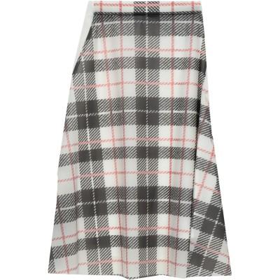 BURBERRY 7分丈スカート ホワイト 38 ポリウレタン 100% 7分丈スカート