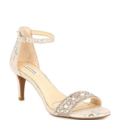 アレックスマリー レディース サンダル シューズ Pasquale Suede Rhinestone Strap Heels Taupe/Gold/Pink