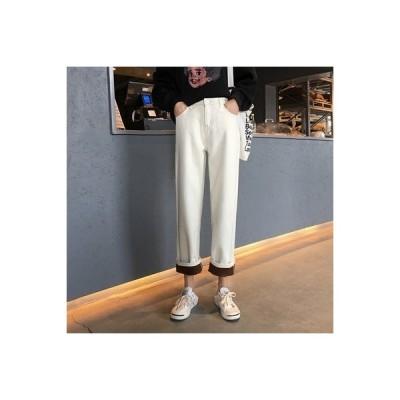 【送料無料】秋 韓国風 ルース 学生 ハイウエスト 着やせ 何でも似合う ゴム入りの   364331_A63896-6871355
