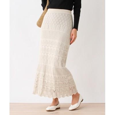 grove / 透かし編みニットスカート WOMEN スカート > スカート