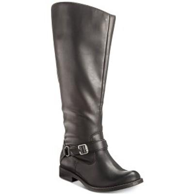 イージーストリート レディース ブーツ&レインブーツ シューズ Quinn Wide-Calf Riding Boots Black