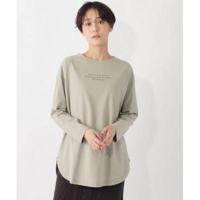 grove / 【S-LL】微起毛レタリングロゴカットソー WOMEN トップス > Tシャツ/カットソー