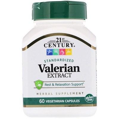 Valerian Extract, Standardized, 60 Vegetarian Capsules