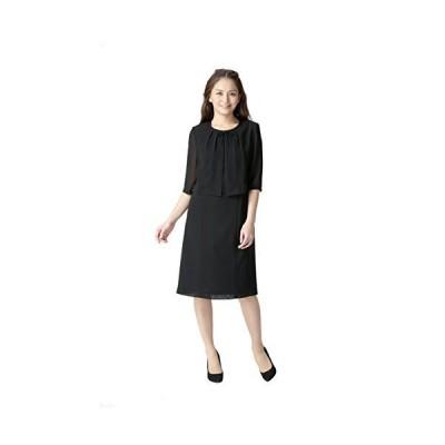 m313-LL 夏用 夏素材 洗える ワンピース レディース ブラックフォーマル 喪服 礼服 冠婚葬祭