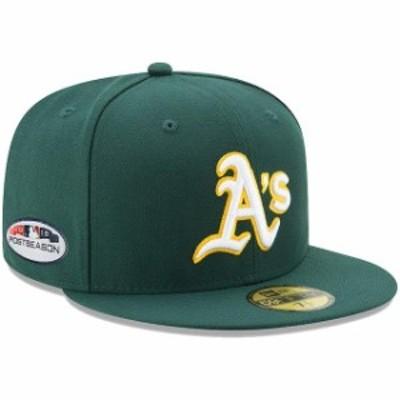 New Era ニュー エラ スポーツ用品  New Era Oakland Athletics Green 2018 Postseason Road Side Patch 59FIFTY Fitted Hat