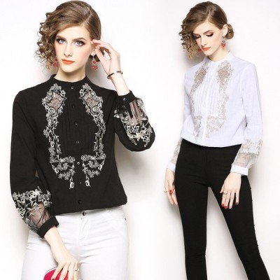 ブラウス チュール レディース シャツ トップス カジュアル 薄手 上着 長袖 体型カバー 上品 綺麗め エレガント 大人 安い 可愛い