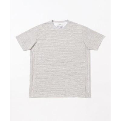 JOSEPH ABBOUD/ジョセフ アブード リネンボーダー Tシャツ ベージュ系 2L