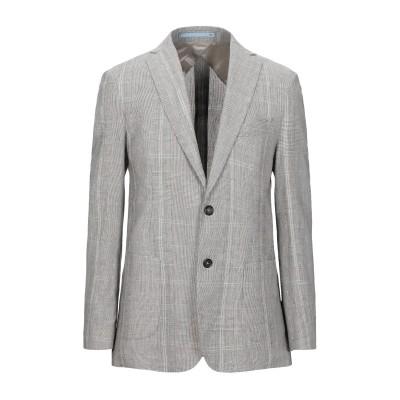 HERMAN & SONS テーラードジャケット グレー 50 コットン 50% / 麻 50% テーラードジャケット