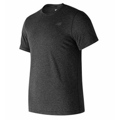 ニューバランス メンズ Tシャツ 半袖 ヘザーテックショートスリーブTシャツ AMT73080 BKH M
