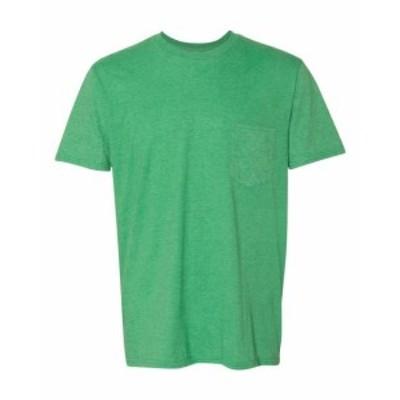 Pocket  ファッション トップス Anvil Mens Lightweight Pocket T-Shirt 983 M-2XL