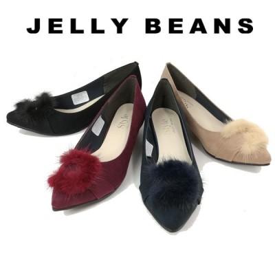 ジェリービーンズ JELLY BEANS パンプス ファー バックル レディース 3532-120-440-610-800