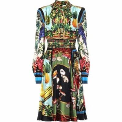 ドルチェandガッバーナ Dolce and Gabbana レディース ワンピース ミドル丈 ワンピース・ドレス Printed silk twill midi dress Mix