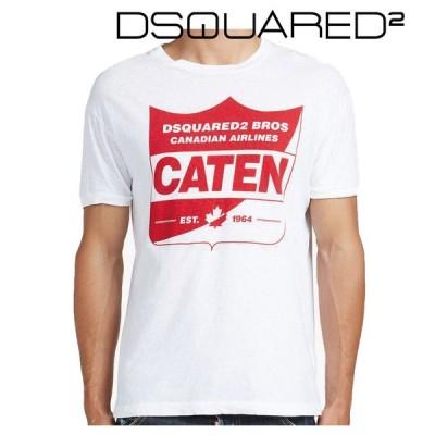 Dsquared2 ディースクエアード メンズ Tシャツ S74GD0115S22507100 プリント ラウンドネック ホワイト 2016年春夏新作 2016SS