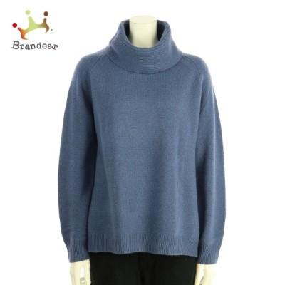 マッシモドゥッティ 長袖セーター サイズM レディース 新品同様 ブルー系 ニット・セーター  値下げ 20210218