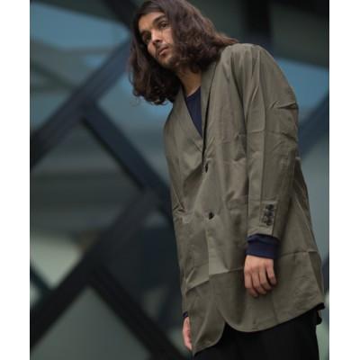 GGD / GGD SELECT / ドロップショルダー チェスターシャツコート MEN ジャケット/アウター > チェスターコート